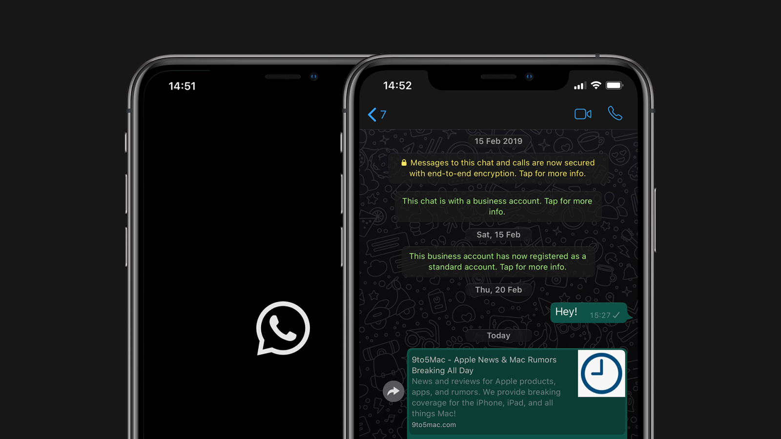 Dark Mode for WhatsApp Arriving to iPhone