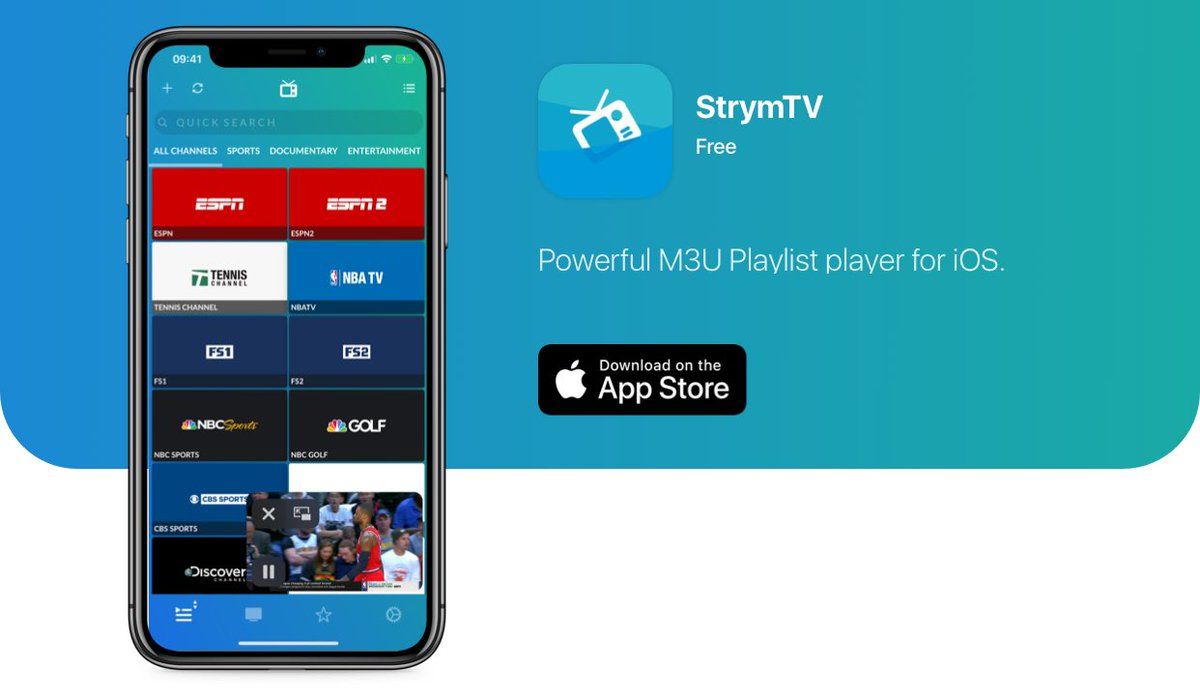 StrymTV app provides live TV on iOS and Apple TV
